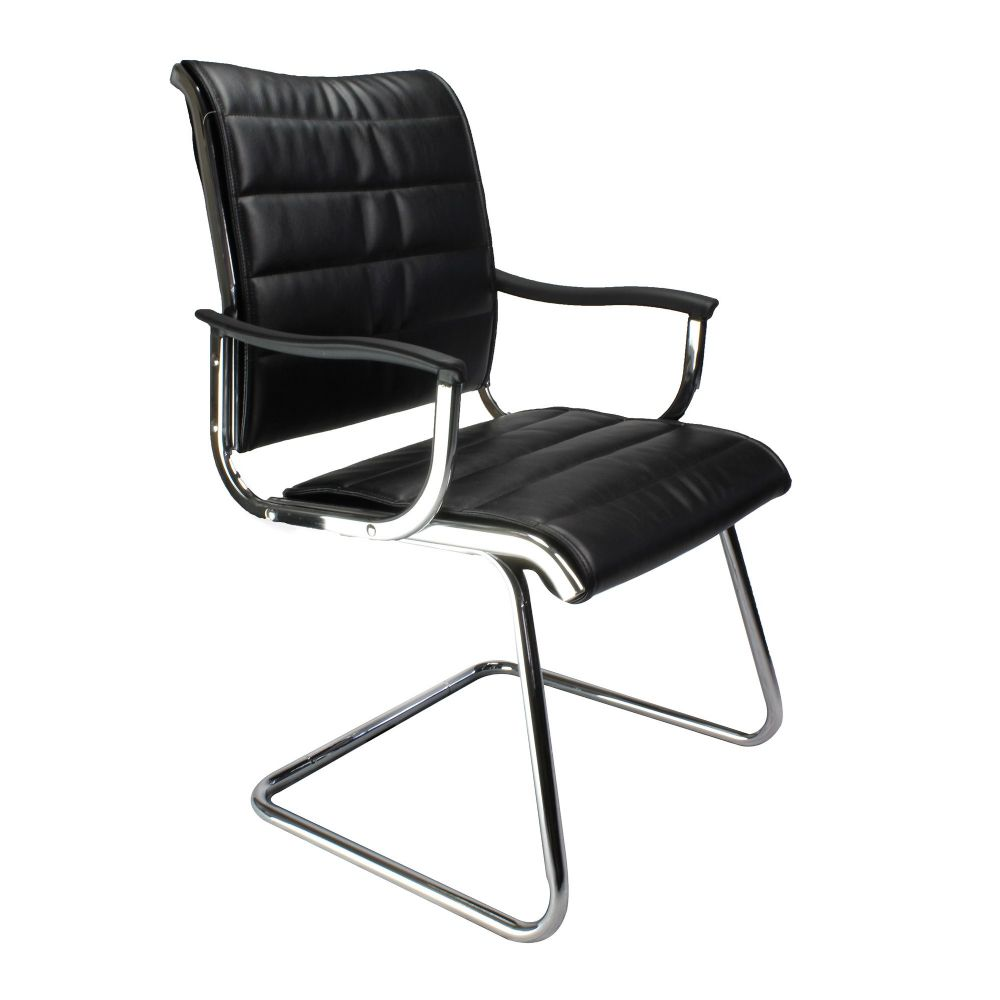 Carbis Luxurious Meeting Room Chair Chrome Frame Black & White Available Eliza Tinsley